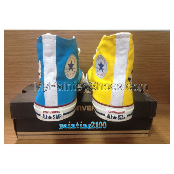 Custom adventure time shoes Hand-painted shoes Handmade shoes ja-1