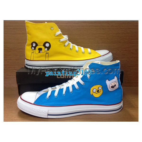 Custom adventure time shoes Hand-painted shoes Handmade shoes ja