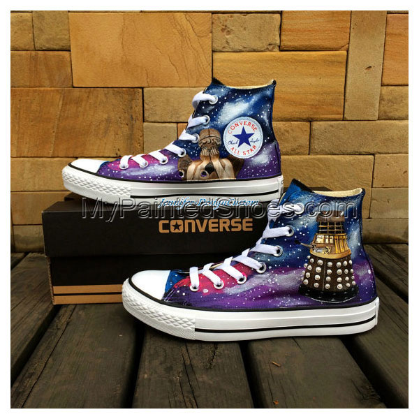 Galaxy Shoes Hand Painted Shoes Custom Canvas Shoes Birthday Gif-1