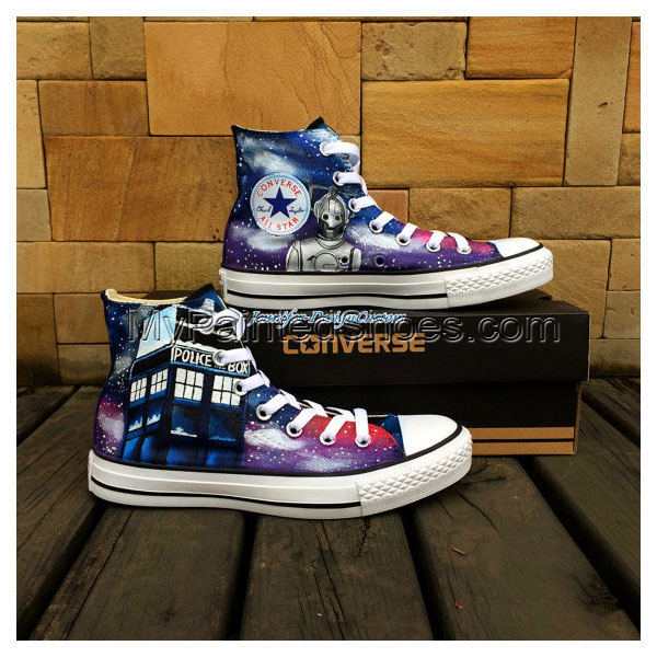 Galaxy Shoes Hand Painted Shoes Custom Canvas Shoes Birthday Gif-2