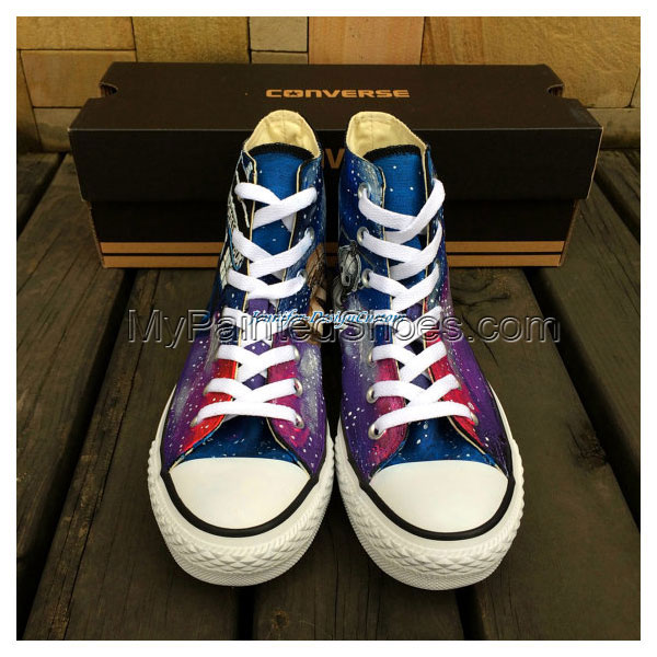 Galaxy Shoes Hand Painted Shoes Custom Canvas Shoes Birthday Gif-3
