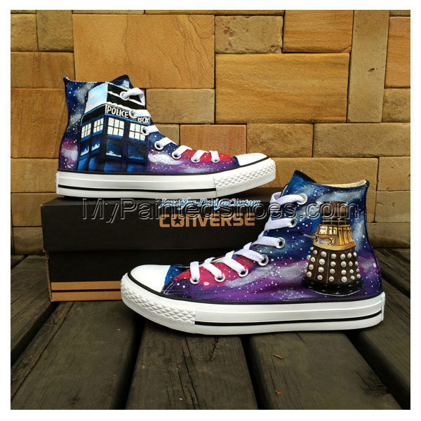Galaxy Shoes Hand Painted Shoes Custom Canvas Shoes Birthday Gif
