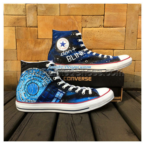 Galaxy Doctor Who Shoes Canvas Shoes Birthday Gifts Christmas Gi-1