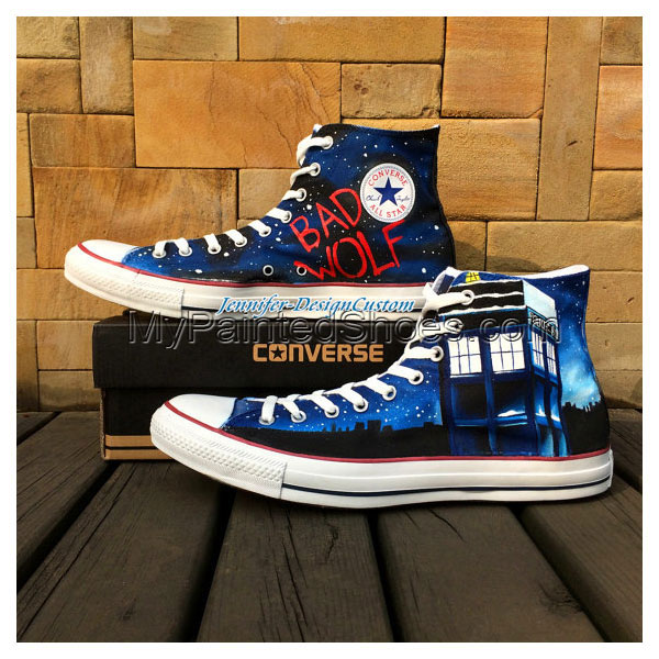 Galaxy Doctor Who Shoes Canvas Shoes Birthday Gifts Christmas Gi-2
