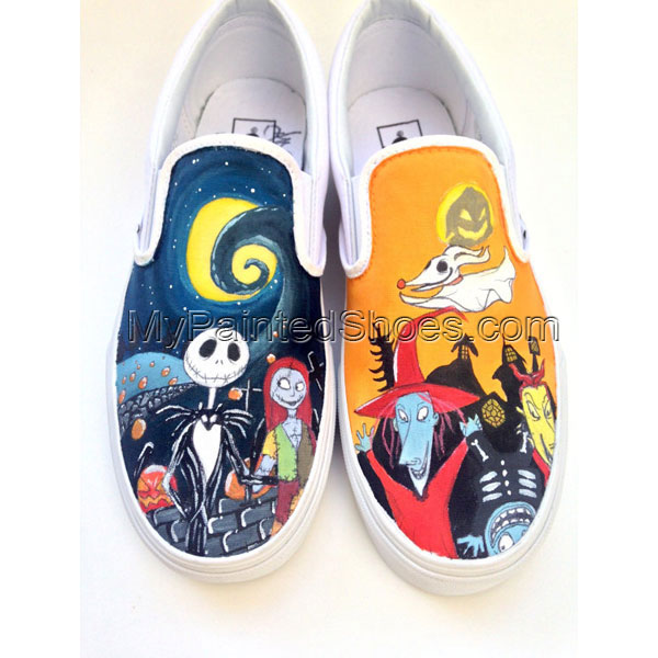 Custom Vans Nightmare Before Christmas Customizable Hand Painted