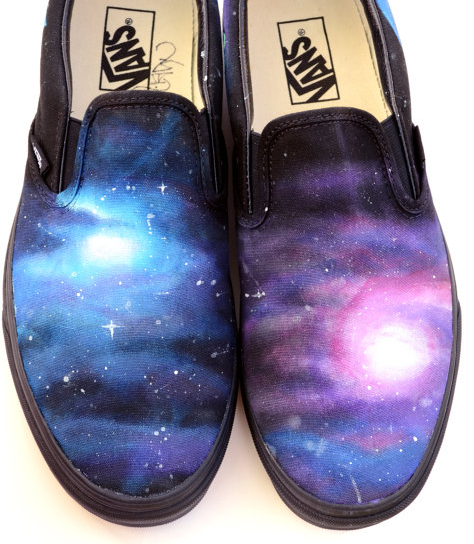Custom Vans Shoes Galaxy Painting Customizable Hand Painted Canv