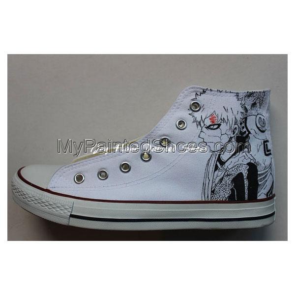 Naruto Chuck Taylor Hand Painting Shoes Naruto Gaara Sneaker Con-1