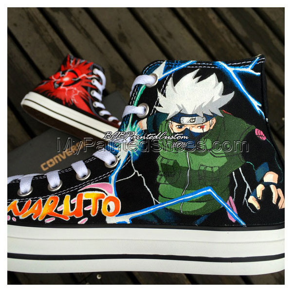 Anime Naruto Kakashi Sneaker Shoes Men Women Hand Painting Best