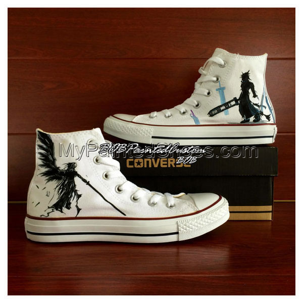 FF White Sneaker Pure Hand Painting Water-resistant on Canvas Sh