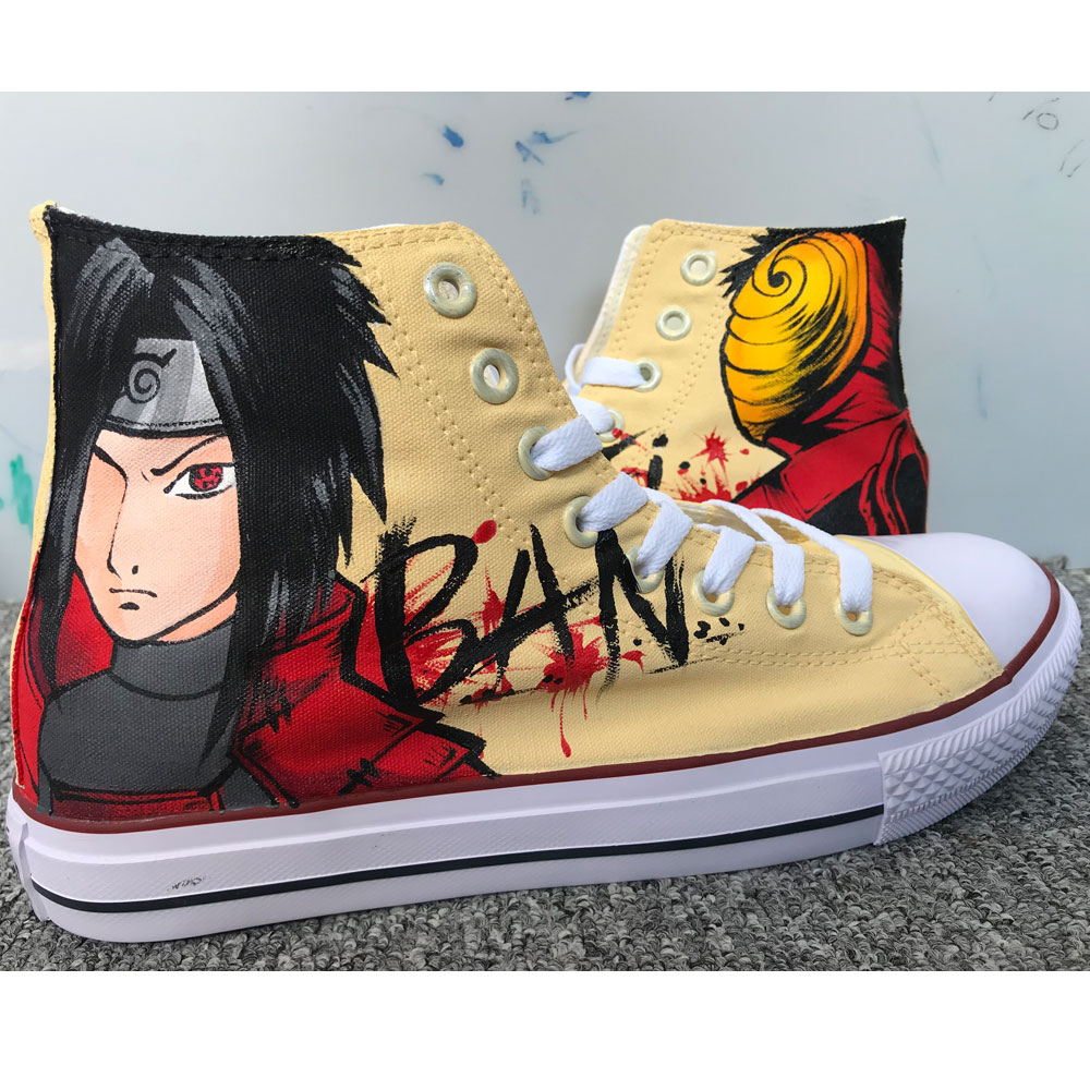ART WORK Unique Anime Shoes Anime Converse,Hand Painted Shoes,Pa-1