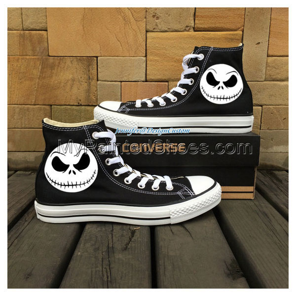 ART WORK Unique Converse Nightmare Before Christma,Halloween Tow-3