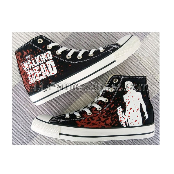 The Walking Dead Daryl Dixon Custom Converse Painted Shoes