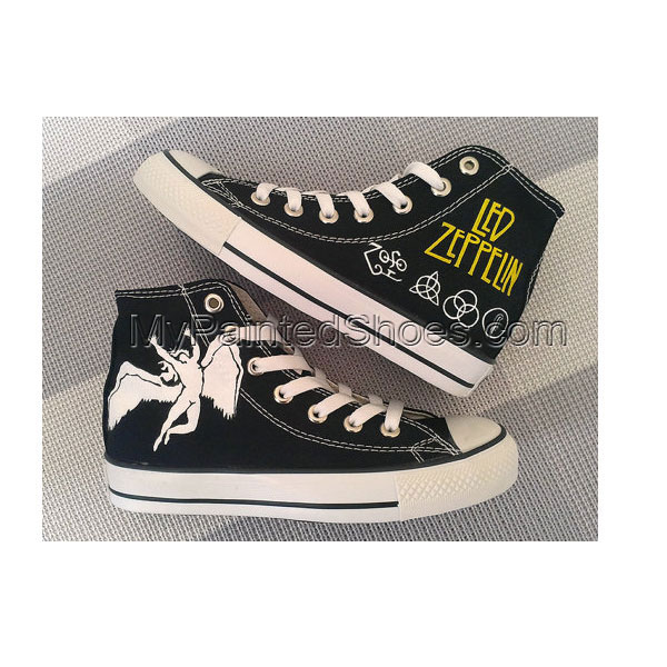 Led Zeppelin Custom Converse / Painted Shoes-1