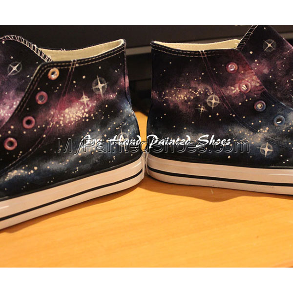 Galaxy Converse All Star Converse Shoes Hand Painted Shoes Hand -2