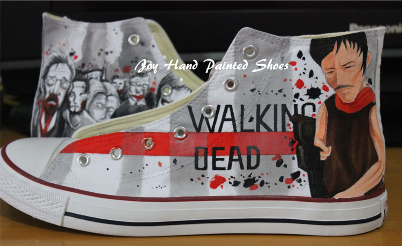 The Walking Dead Converse Converse Shoes Painted Custom Shoes Bi-1