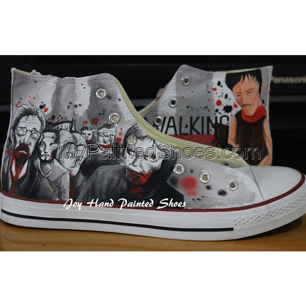 The Walking Dead Converse Converse Shoes Painted Custom Shoes Bi