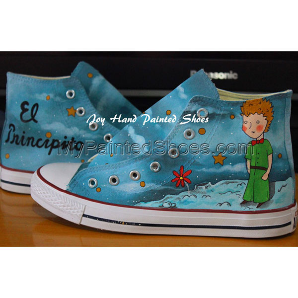 El Principito Unique Design Converse All Star Hand Painted Shoes-1
