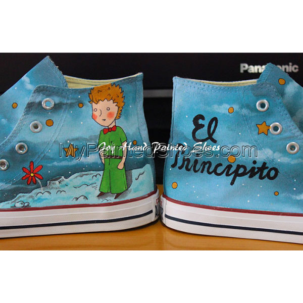 El Principito Unique Design Converse All Star Hand Painted Shoes-2
