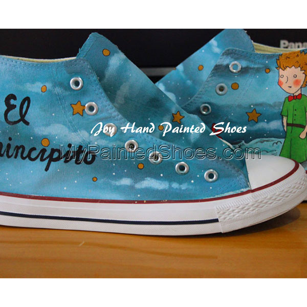 El Principito Unique Design Converse All Star Hand Painted Shoes