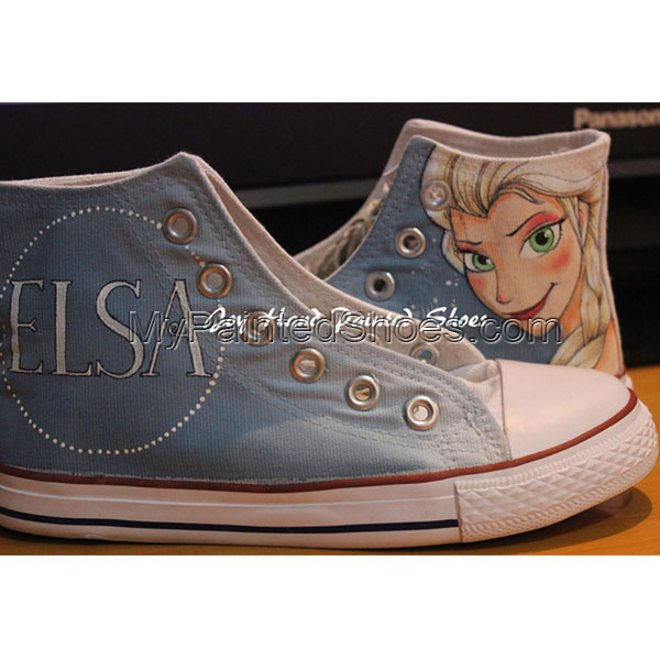 Frozen Unique Design Converse Disney Frozen All Star Hand Painte-1