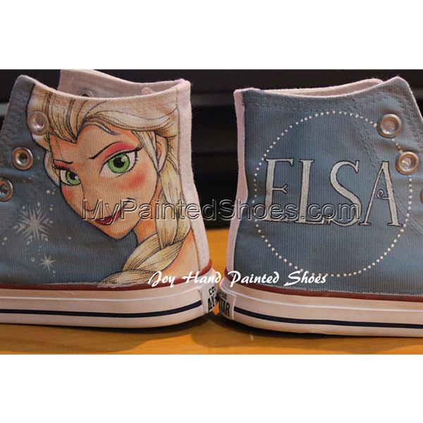Frozen Unique Design Converse Disney Frozen All Star Hand Painte-2