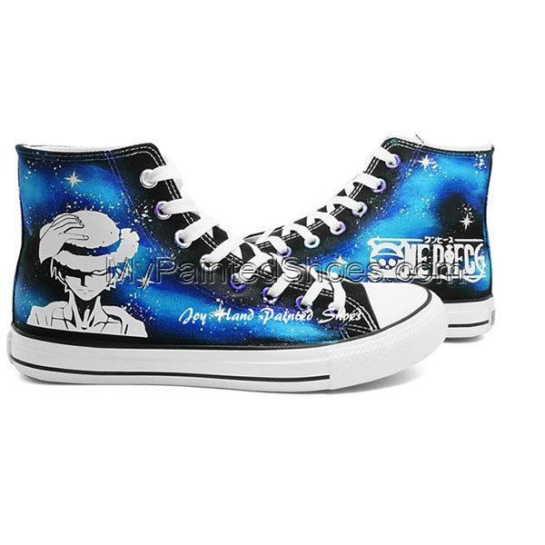 Fashion Glow in the Dark Shoes One Piece Anime Sneakers Hand Pai-1