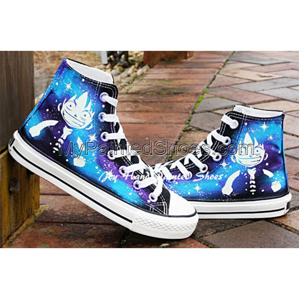 Fashion Glow in the Dark Shoes One Piece Anime Sneakers Hand Pai-2