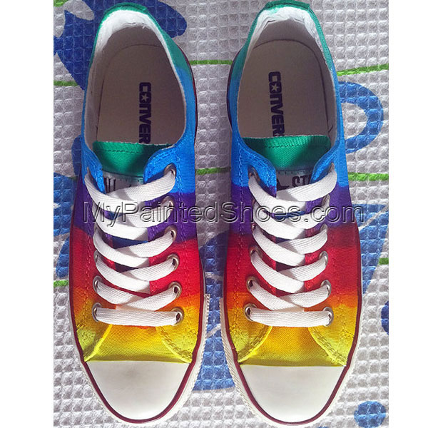 Rainbow Custom Shoes Colorful Painted Shoes-2