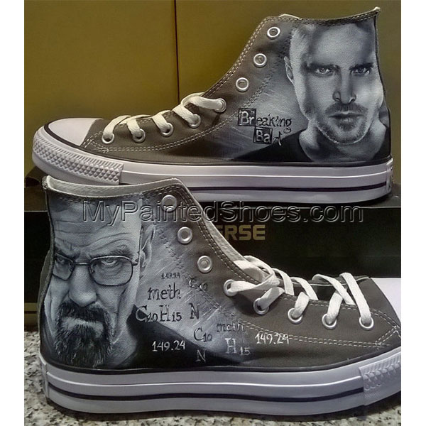 Breaking Bad Custom hand painted shoes hand painted Breaking Bad