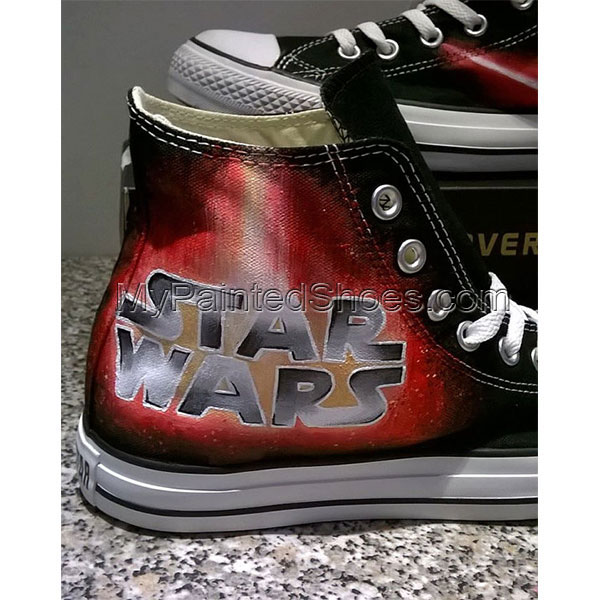 Star Wars hand painted shoes-1