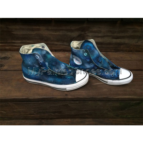 Galaxy Custom Shoes Hand Painted Shoes High-top Painted Canvas S-1