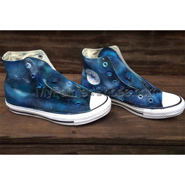 Galaxy Custom Shoes Hand Painted Shoes High-top Painted Canvas S-3