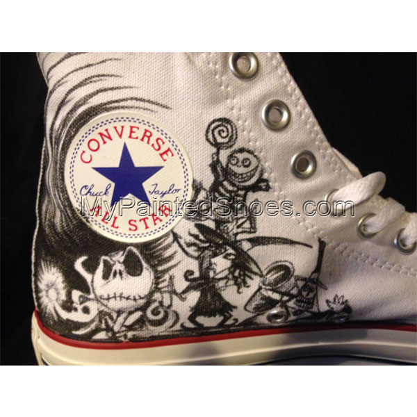 Nighmare before christmas Shoes High-top Painted Canvas Shoes