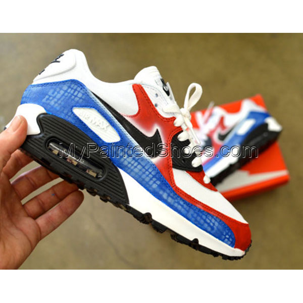 Hand Painted Nike Air Max 90 Running Shoes-1