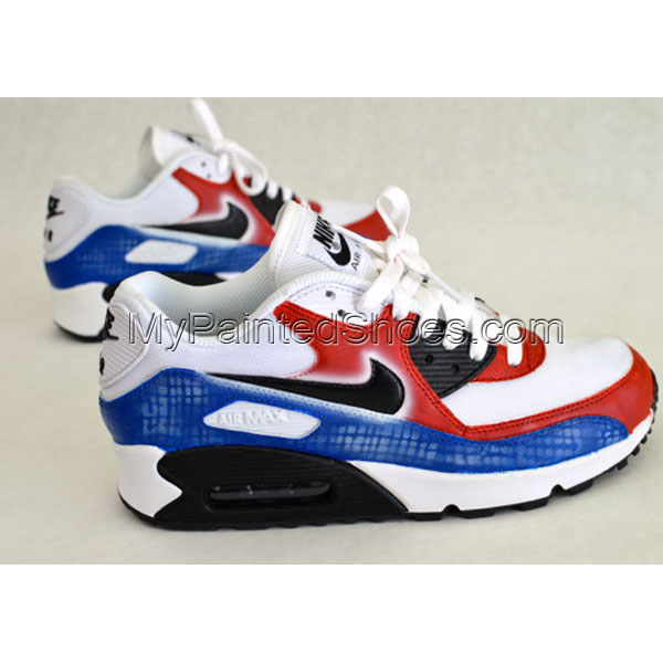 Hand Painted Nike Air Max 90 Running Shoes-3