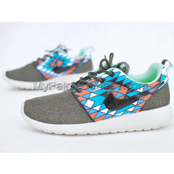 Hand Painted Nike Roshe Run Painted Canvas Shoe-3