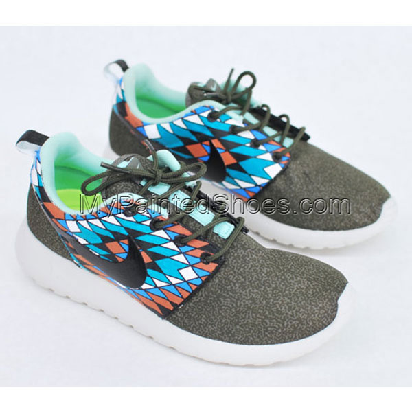 Hand Painted Nike Roshe Run Painted Canvas Shoe