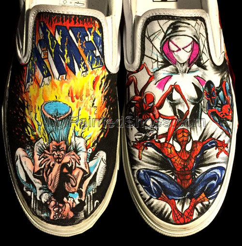 Xmen Slip-on Painted Canvas Shoes