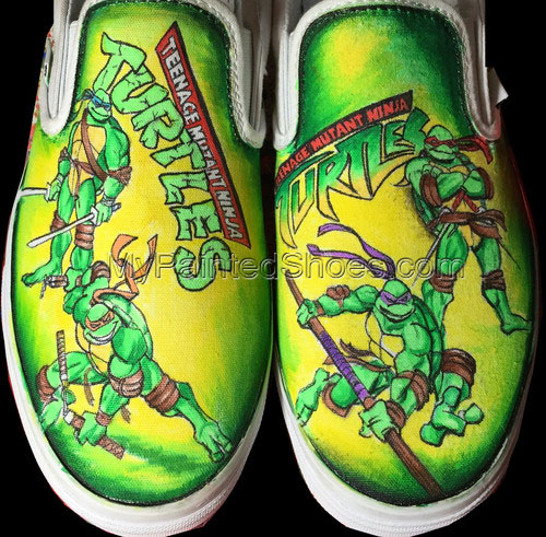 tmnt Slip-on Painted Canvas Shoes
