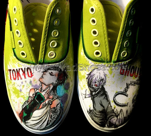 Tokyo Ghoul Slip-on Painted Canvas Shoes