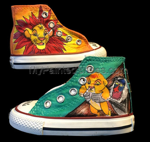 Lion King Baby High-top Painted Canvas Shoes