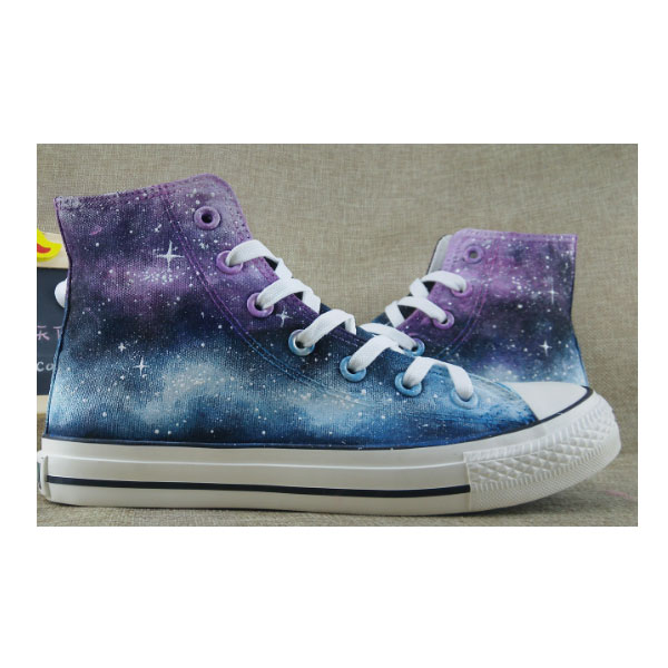 2016 Galaxy Sneakers Custom Painted Galaxy Shoes