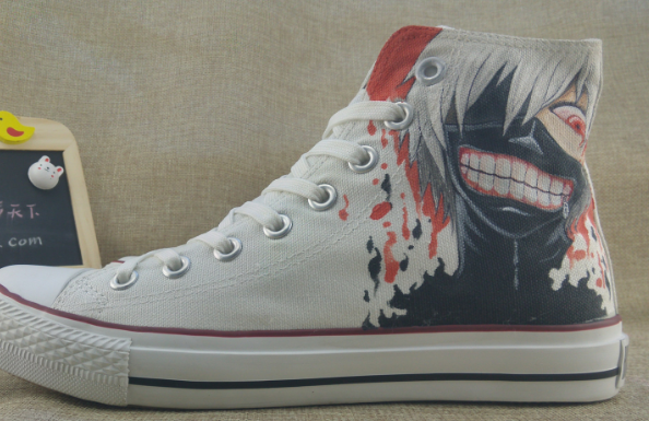 Tokyo Ghoul Anime Shoes Canvas Shoes White Adult Sneakers-2