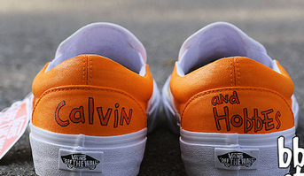 Hand Painted Calvin and Hobbes Shoes-1