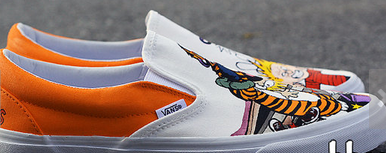 Hand Painted Calvin and Hobbes Shoes-2