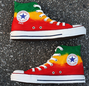 Hand Painted Bob Marley Converse Painted Canvas Shoes-1