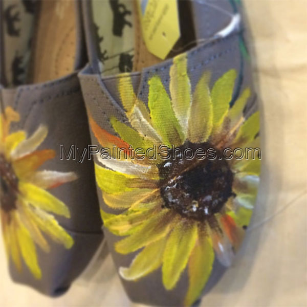 Sunflower toms Painted Canvas Shoes-1