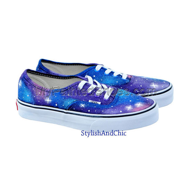 Galaxy Vans Galaxy Shoes Hand Painted Canvas Shoes-3
