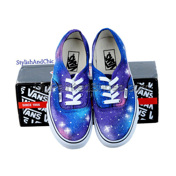 Galaxy Vans Galaxy Shoes Hand Painted Canvas Shoes