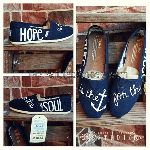 Custom Painted Hebrews 6:19 Hope is the anchor for the soul TOMS